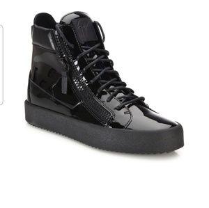 Giuseppe Zanotti High Top Black Patent Leather